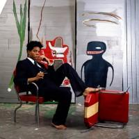 Basquiat in 1985 photo by Lizzy Himmel (AP)