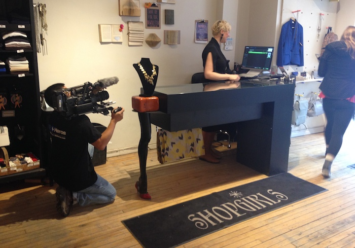 Michelle Germain of Shopgirls in action for our FB&M video