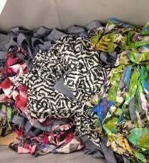 Preloved fabrics waiting to be sewed at WS & Co.