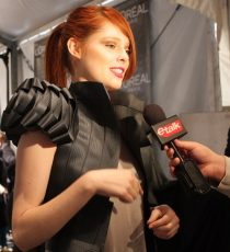 Coco Rocha wearing early Greta Constantine