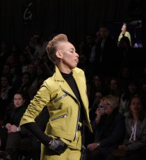Stacey McKenzie wearing early Biddell